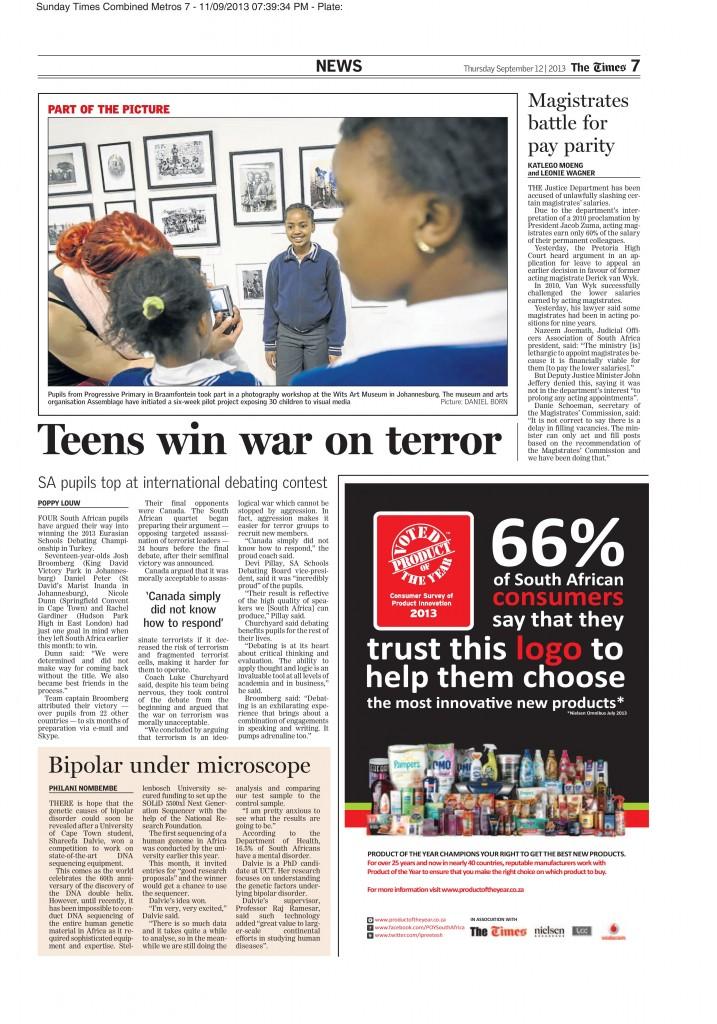 Team SA Sunday Times