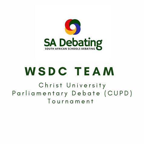 SA WSDC Team makes us proud at CUPD 2021